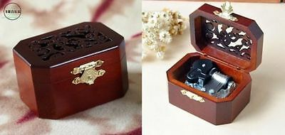 OCTAGON  WOOD CARVING MUSIC BOX  : Pirates of the Caribbean Davy Jones