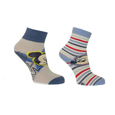 2 paires de chaussettes Mickey taille 15-18
