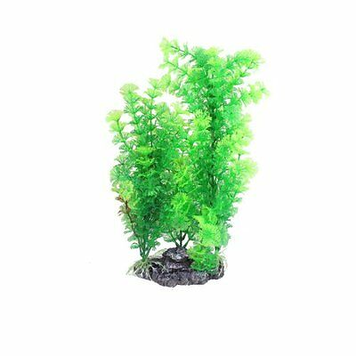 sourcingmap Plastic Manmade Plant Fish Pond Ornament, 15.7-inch, Green
