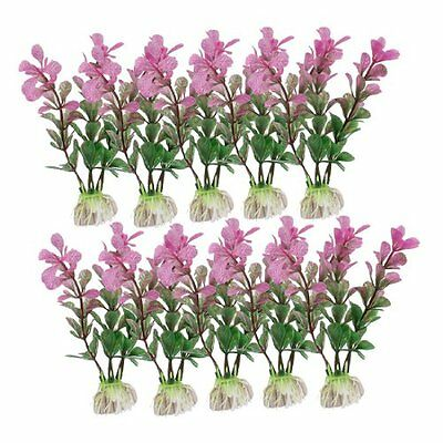 Sourcingmap Fish Tank Landscaping Plant, 4.3-inch, 10 Pieces, Green  Fuchsia