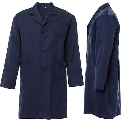 New Mens Lab Coat Laboratory Warehouse Medical Doctor Food Hygiene Blue