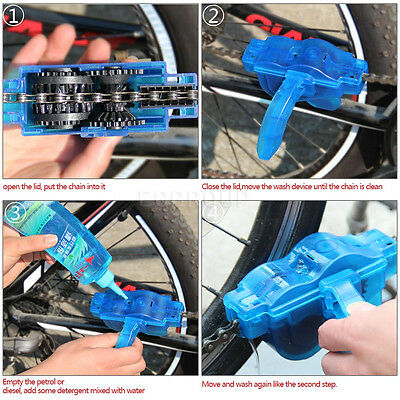 Newly Bike Wash Chain Device Cycling Road Bicycle Scrubber Cleaner Cleaning Tool