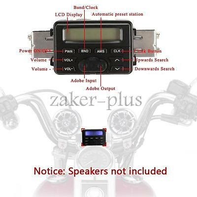 New 12V LCD Motorcycle Audio FM MP3 Radio Sound System Stereo For Harley Cruiser