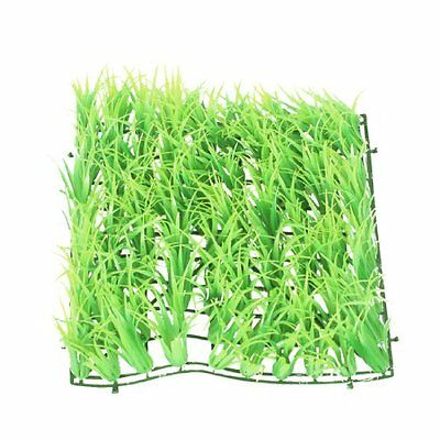 Sourcingmap Plastic Aquarium Grass Lawn,9.4 x 9.4 x 2.4-inch, Green  Yellow