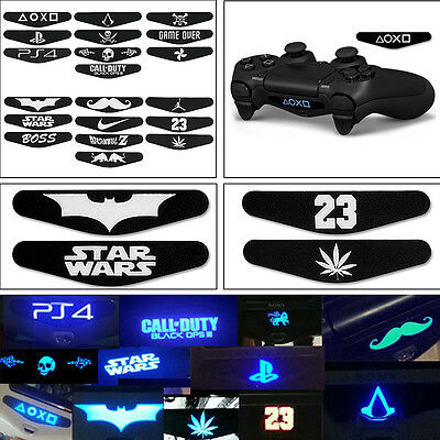 10PCS Led Light Bar Decal Sticker 2 Type Mini For PlayStation 4 PS4 Controller