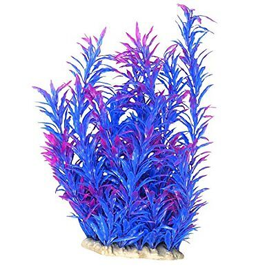 Sourcingmap Aquarium Leaves Aquatic Strip Grass, 13-Inch, Blue Purple
