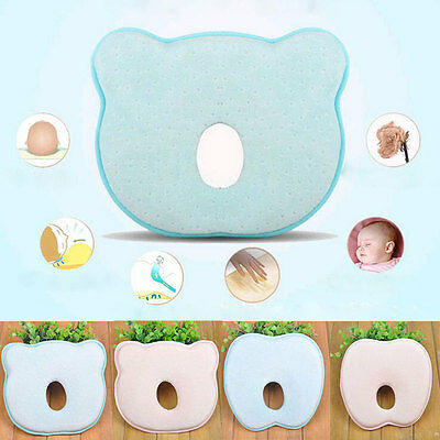 2016New Infant Prevent Flat Head Support Heart Memory Foam Baby Pillow