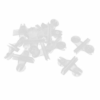 Plastic Aquarium 5mm Glass Suction Cup Divider Sheet Holder Clip 12pcs