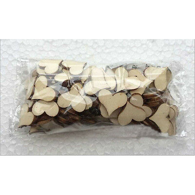 100Pcs/Pack Rustic Wooden Love Heart Wedding Table Scatter Decoration Crafts