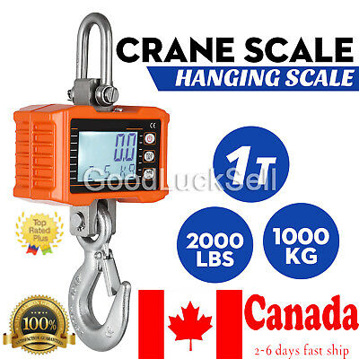 1000KG 1Ton 2000 LBS Digital Crane Scale Heavy Duty Hanging Scale OCS-S from CAN