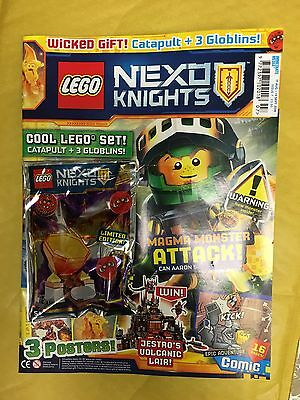 Lego NEXO KNIGHTS Magazine ISSUE 7 AUG 2016 FREE LIMITED EDITION CATAPULT GOBLIN