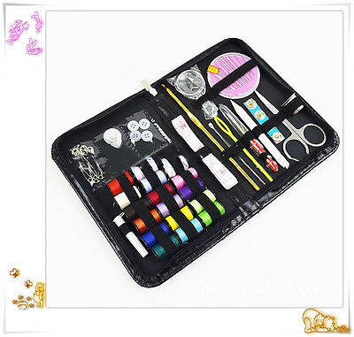 38pcs Threader Needle Tape Measure Scissor Sewing Kit Multifunction sewing Case