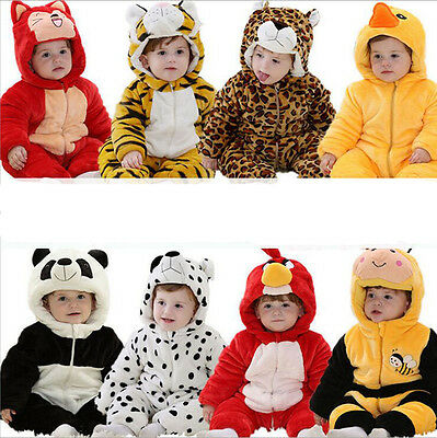 Newborn Baby Cotton Clothes Girl&Boy Jumpsuit Winter Warm Outfits 0-24 Months
