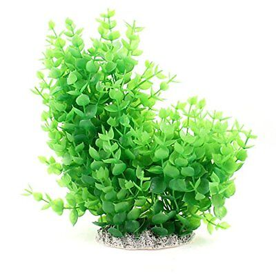Sourcingmap Plastic Aquarium Decor Aquascaping Plant Tree, 9.4-Inch,Green