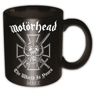 Lemmy Motorhead The World Is Yours Black Band Logo Coffee Gift Mug MMX Official