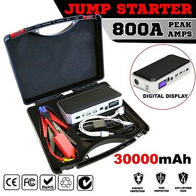 Emergency Jump Starter Portable 30000mAh Backup Power Bank Car Charger 12V 800A
