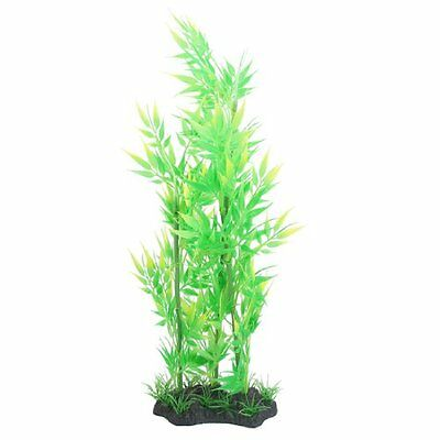 sourcingmap Plastic Fish Aquarium Plant, 14.6-inch, Green  Yellow