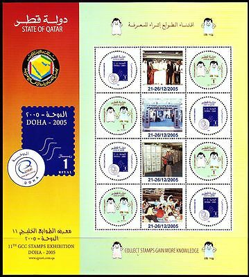 Qatar 2005 ** Mi.1288/89 Klbg. Briefmarkenausstellung Stamp Exhibition