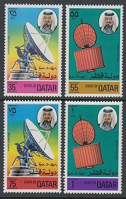 Qatar 1976 ** Mi.673/76 Weltraum Space Erdefunkstelle Satellite Earth Station