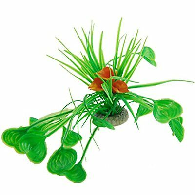 Sourcingmap Heart Shaped Fish Tank Flower Leaves Plant Decor, Orange  Green