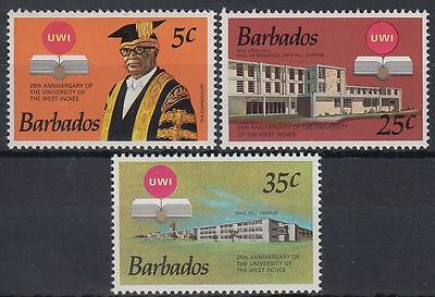 Barbados 1973 ** Mi.357/59 Bildung Education Universität University [st0637]