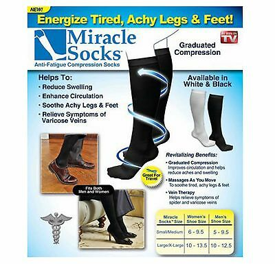 Anti-Fatigue Compression Miracle Socks Relief for Aching Feet Veins Flight