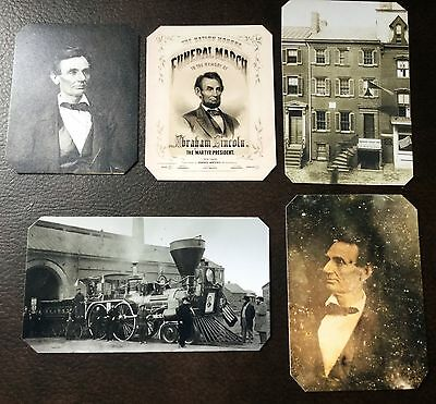 President Abraham Lincoln Civil War Lot Of 5 Special TinType C712NP