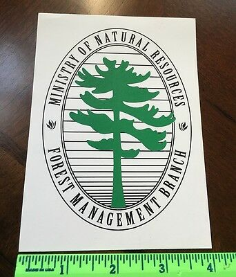 Ministry Of Natural Resources Forest Management Branch Sticker