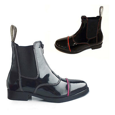 Brogini Paloma Full Patent Jodhpur Riding Boots Pink or Red All Sizes