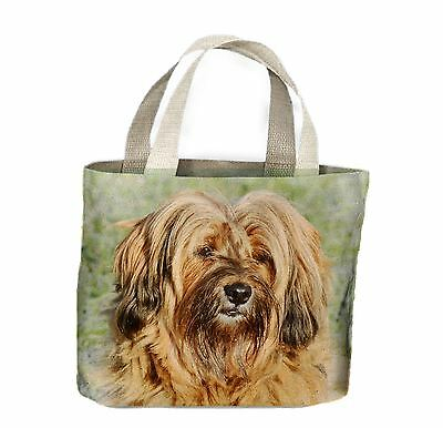 Tibetan Terrier Dog Face Tote Shopping Bag For Life