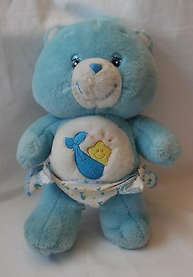 "Vintage Care Bear Bedtime Bear Baby Tugs 10"" Plush Stuffed Animal"