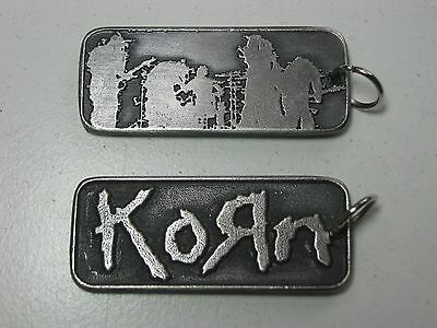 Korn Rare doble sided Pendant Necklace Pewter Silver 015