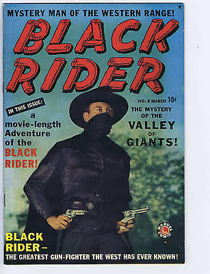 Black Rider #8 Timely 1950 Stan Lee photo-cover!
