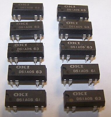 Qty. 10 OKI D51A05 Reed Relays 1 Form A 500 Ohm 5 A Coil New 6P1-3