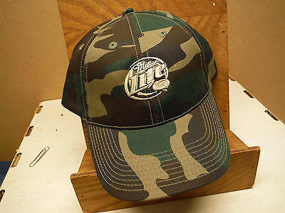 Miller Lite Camo One Size Fits All Baseball Cap Hat
