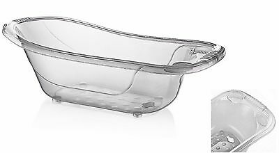 50 Litre Large Aqua WHITE Clear Transparent Baby Bath Tub