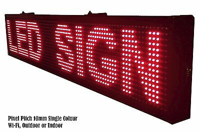 LED Sign Scrolling Message Board Programmable - Single Colour Outdoor WiFi