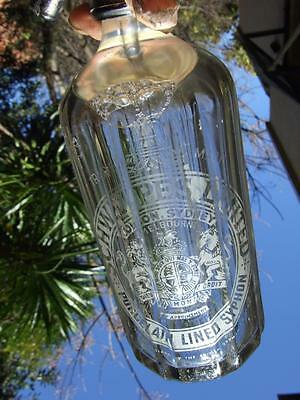 Vintage Schweppes  Syphon  Glass Bottle  Melbourne Icid Egted1920's