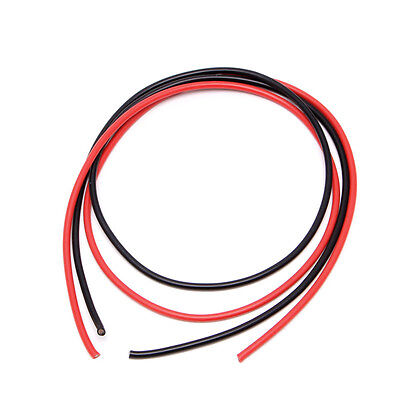 New 12 AWG Gauge Wire Silicone Flexible Stranded Copper Cables For RC Black Red