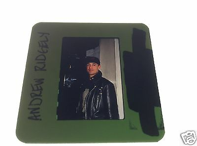 ANDREW RIDGELY of WHAM the pop band 1989 original 35mm slide photo transparency