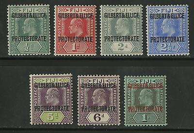Gilbert & Ellice Islands   1911   Scott # 1-7   Mint Very Lightly Hinged Set VF