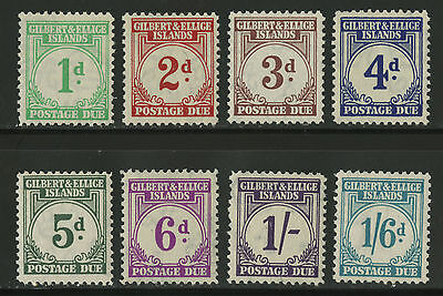 Gilbert & Ellice Islands   1940   Scott # J1-J8   Mint Very Lightly Hinged Set