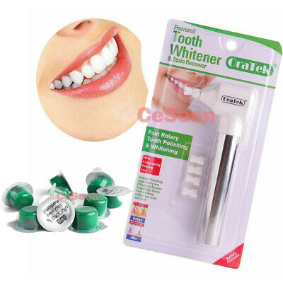Tooth Polisher Electric & 15 CUPS Teeth WHITENING Mint scent Paste Stain Remover