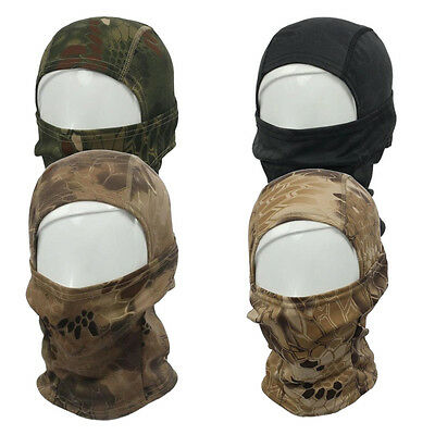 Camouflage Army Cycling Motorcycle Cap Balaclava Hats Full Face Mask Green SYH