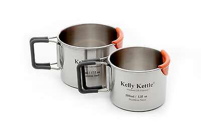 Kelly Kettle Accessories - Cup Set 350ml & 500ml in Stainless-Steel