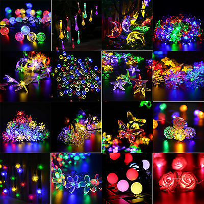 Solar / Battery Powered Outdoor LED Fairy Lights String 20-200LED Xmas Party Dec