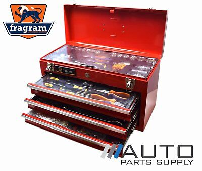 """446 Piece 1/4"""" & 1/2"""" Drive Metric Tool Kit in 3 Drawer Lockable Chest *Fragram"""