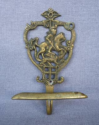 "Antique english hook hanger made of ormolu early 1900's 5 1/2"" tall knight"