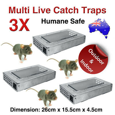 Multi Live Catch Mouse Humane Safe Self Catching Metal Trap Mice Reusable New