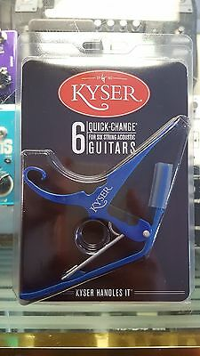 Kyser Quick Change Capo 6-String Acoustic Guitar - Made in USA - Blue
